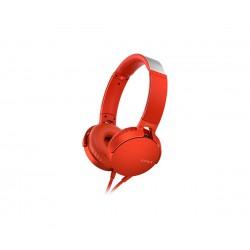Audífonos Sony EXTRA BASS™ XB550AP/Rojo