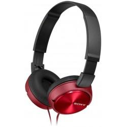 Audífonos Sony de diadema MDR-ZX310AP con manos libres. Rojo