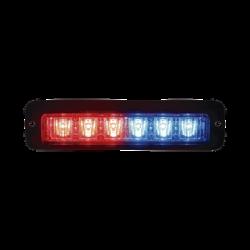 Luz led perimetral MR6 rojo / azul con soporte para empotrar
