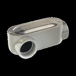 """Caja oval roscada tipo LR de 3"""" larga(76.2 mm) Incluye tapa y tornillos."""