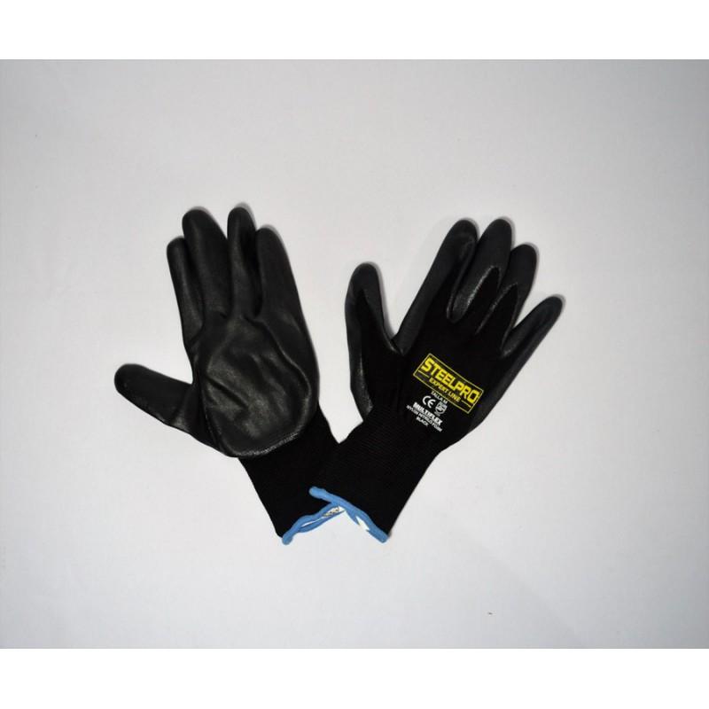 Guante Multiflex Nylon Nitrilo Foam Negro Steelpro