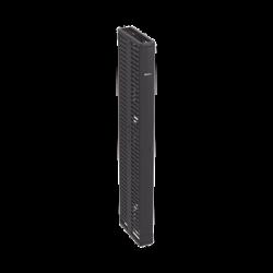 Organizador Vertical Doble PatchRunner™, Para Rack Abierto de 45 Unidades, 6in de Ancho, Color Negro
