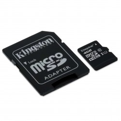 MEMORIA MICRO SD CLASE 10 CON ADAPTADOR A SD 4GB