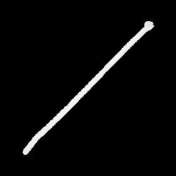 Cincho de Naylon 6.6, Color Natural, 292 mm (11.5in) de largo, sección transversal estándar, Paquete de 100 piezas