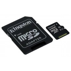 64GB microSDHC Class 10 UHS-I 45MB/s Read Card + SD Adapter