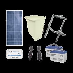 Kit de energía solar de 12 Vcd para alimentar radar de velocidad X-RADAR1