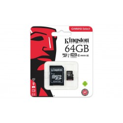 Tarjeta Micro SD Class 10 Canvas Select  80MB  de 64GB