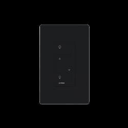 Atenuador (dimmer) de pared. baje/suba intensidad de iluminación y encienda o apague. Requiere cable neutro, color negro.