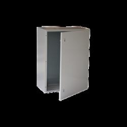Gabinete de Acero IP66 Uso en Intemperie (600 x 800 x 400 mm) con Placa Trasera Interior y Compuerta Inferior Atornillable (Incl