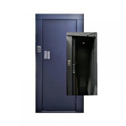 Esclusa Unipersonal / Dos Chapas Magnéticas 900Lbs/ Dos Teclados de Acceso / Lámina Cal. 14 / Cierrapuertas