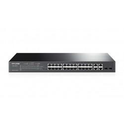 Switch TP-LINK Inteligente de 24 puertos 10/100Mbps + 4 Puertos Gigabit PoE+