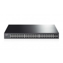 Switch TP-LINK Administrable de 48 Puertos Gigabit PoE+ 4 Ranuras SFP JetStream