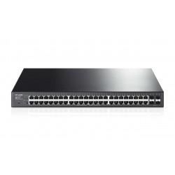 Switch TP-LINK Administrable de 48 Puertos Gigabit PoE+ 4 Ranuras SFP JetStream