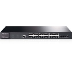 Switch Administrable L2 JetStream de 24 puertos Gigabit con 4 ranuras SFP