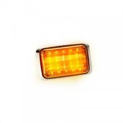 Luz de Advertencia Quadraflare, Mica Transparente, Led color Ámbar