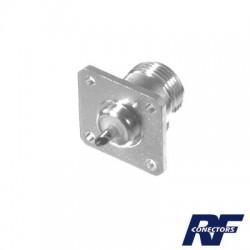 Conector N Hembra, montaje chasis de 4 perforaciones a 18 mm.