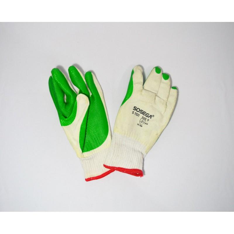 Guante Sosega S1101 Recubierto Latex Verde