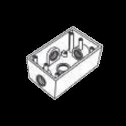 """Caja Condulet FS de 1/2"""" ( 12.7 mm ) con cuatro bocas a prueba de intemperie."""