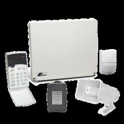 Kit de alarma 4-8 zonas con teclado de iconos, 1 detector de movimiento digital y sirena de 30 WATTS