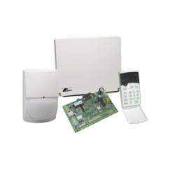 Panel de alarma híbrido de 4 a 8 zonas, soporta zonas inalámbricas, funciones de control de acceso, incluye teclado de leds y
