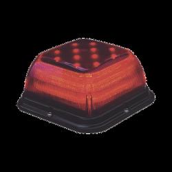 Baliza SB 48 LED, lente rojo, LED rojo, 12-24VDC