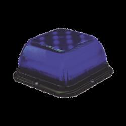 Baliza LED SB48, lente azul, LED azul, 12-24 VCC