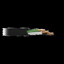 Cable de Cobre de 3 hilos en calibre 10 AWG, con Forro para Uso Rudo. Rollo 100 m.