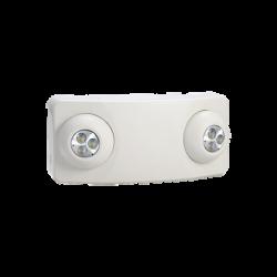 Luz DUAL LED de Emergencia/350lm/Uso Rudo/Montaje en pared o Techo/Batería de Respaldo Incluida