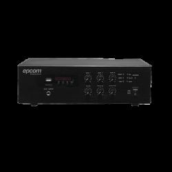 Mini Amplificador Mezclador   120W RMS   Sistema 70/100V   MP3   Tuner   Bluetooth   Musica ambiental y Voceo