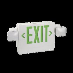 Señal de salida luminosa con batería y lámparas de emergencia, color verde