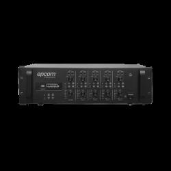 Mezclador Amplificado - 4 zonas de 240W RMS / 4 Canales / 5 Entradas / MP3 Tuner USB/SD / 1 Entrada de Micrófono