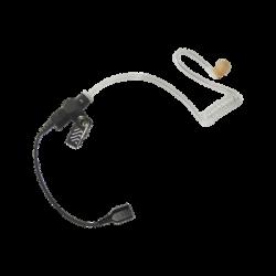 Auricular de tubo acústico transparente con cable de fibra tranzada con conector SNAP tipo MIRAGE. Requiere micrófono de solap