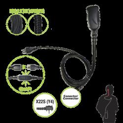 Micrófono con cable de fibra trenzada serie SNAP compatible con VERTEX VX-160/180/210/230/231/350/354/400/410/424/427.
