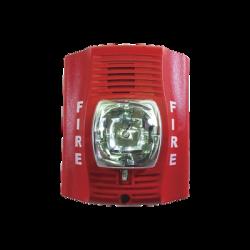 Lampara estroboscópica para exterior con nivel de candelas seleccionable, rojo