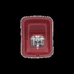 Bocina con Lámpara Estroboscópica, Montaje en Pared, Color Rojo, Nuevo Diseño Moderno y Elegante y Menor Consumo de Corriente