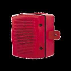 Bocina para Exterior, Montaje en Pared, Color Rojo