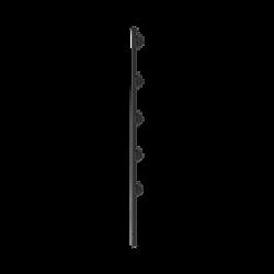 """Poste con 5 Aisladores de PASO para Cerca Electrificada. Tubo Galvanizado de 1.2m, cal. 18 de 1"""" Diam. + Pintura Negra Aplicaci"""