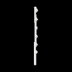"""Poste con 6 Aisladores de PASO para Cerca Electrificada. Tubo Galva. de 1.4m, cal. 18 de 1"""" Diam. + Pintura Blanca."""