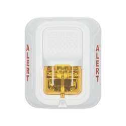 Lámpara Estroboscópica Color Blanco, para Notificación de Alerta, Montaje en Pared, Lente Estroboscópico Color Ámbar, Cande