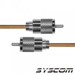 Cable Coaxial RG-142/U de 110 cm, con conectores UHF Macho a UHF Macho (PL-259).
