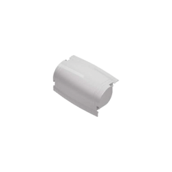Mini curva vertical externa color blanco para canaleta THR40