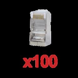Paquete de 100 conectores RJ45 para cable UTP categoría 5E
