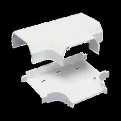 """Accesorio en """"T"""", para uso con canaleta T70, Material PVC Rígido, Color Blanco Mate"""