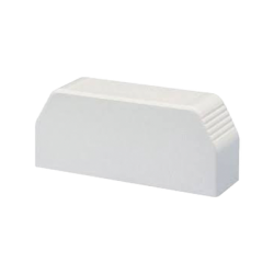 Tapa final, para uso con canaleta T70, Material PVC Rígido, Color Blanco Mate