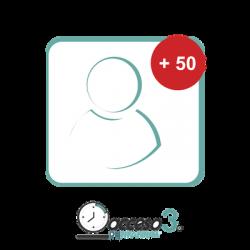 Expansión de 50 Empleados adicionales para Software Acceso3 - TITANIUM / Compatible con NOMINA