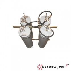 """Duplexer Pasa-Banda-Rechazo de Banda, 118-148 MHz, 4 Cavidades (5""""Dia.) 600 KHz, 1.5 dB, 350 Watt, N Hembras."""