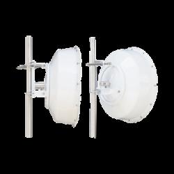 Antena direccional de alta resistencia, Ganancia 30 dBi, (4.9 -6.4 GHz), Plato hondo para mayor inmunidad al ruido, Conectores N