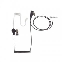 Micrófono - audífono de solapa con tubo acústico transparente para HYT TC-500/ 518/ 600/ 610/ 700 y radios Motorola GP300/ PR