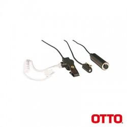Kit de Micrófono-Audífono profesional de 3 cables para Motorola PRO5150/5350/5450/5550/7150/7350/7450/7550/9150