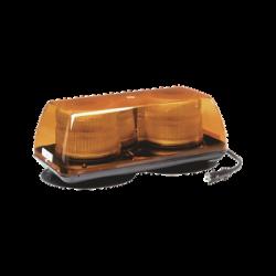 Mini Barra de Luces Estroboscopica, Color Ámbar, Montaje Magnético